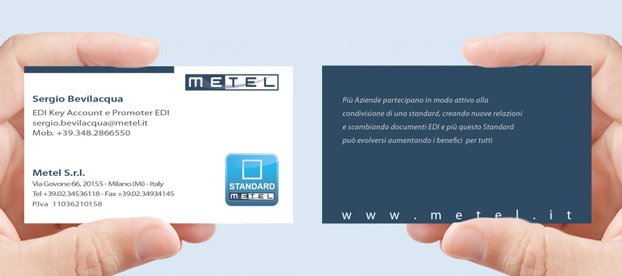 Progetto Grafico Biglietto Da Visita Metel
