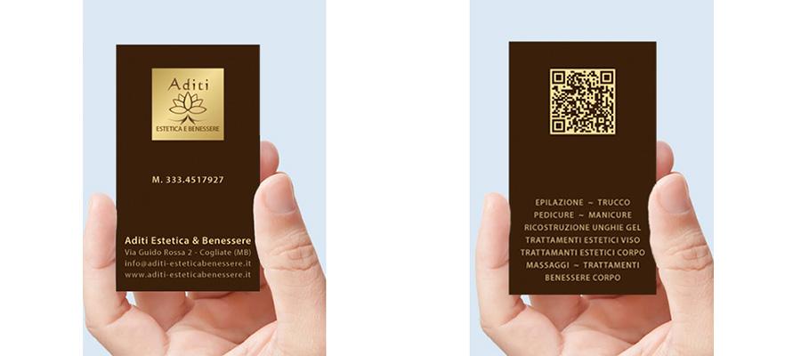 Progetto Grafico Biglietto Da Visita Aditi Estetica E Benessere