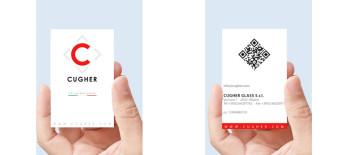 Progetto Grafico Biglietto Da Visita Cugher Glass