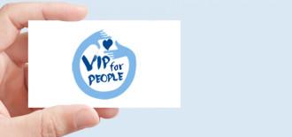 Progetto Grafico Logotipo Vip 4 People