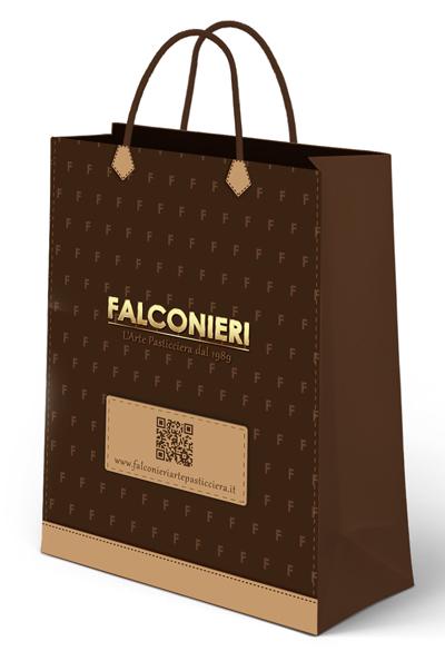 Progetto grafico Shopper per Falconieri Arte Pasticciera