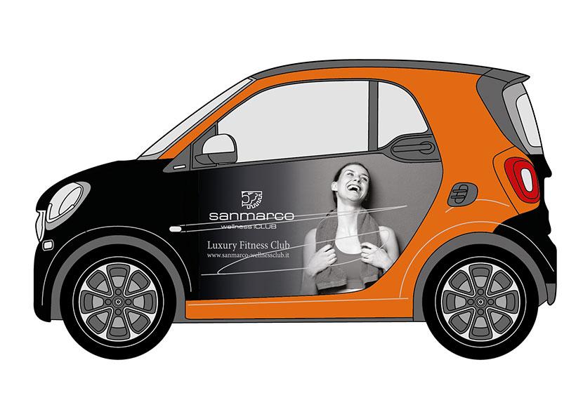 Progetto Grafico Personalizzazione SMART Per San Marco Wellness ICLUB