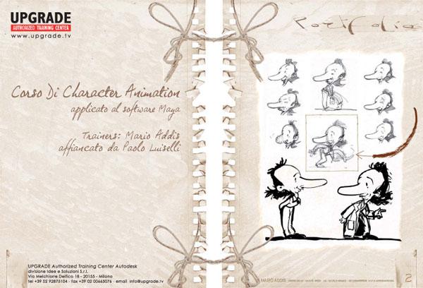 Progetto Grafico Nuova Brochure UPGRADE Per I Corsi Di Animazione 3D