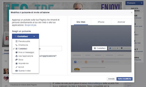 Pulsante Di Invito Alla Azione Di Facebook