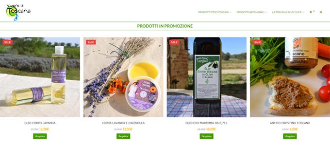 Realizzazione Portale Ecommerce Vivere la Toscana