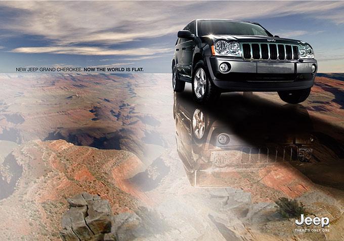 Rendering 3D pubblicita JEEP Grand Cherokee