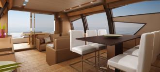 Modellazione E Rendering 3D Dello Yacht Ferretti 720