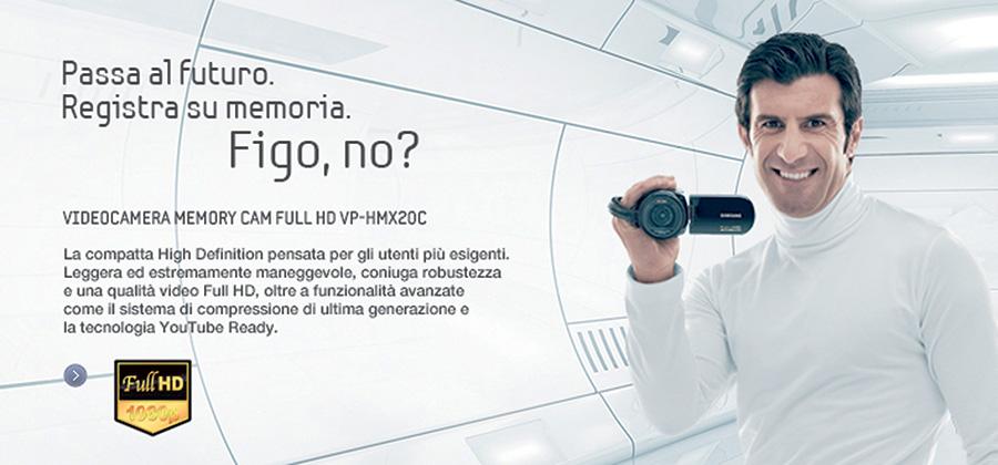 Scenografia 3D Per Pubblicità Samsung Con Il Calciatore Figo