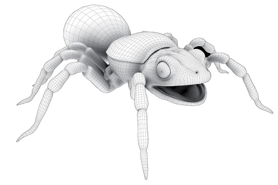 Wireframe modello 3D Tarantula realizzato da Idee e Soluzioni