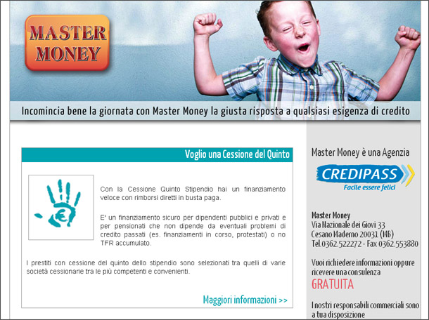 Il Mini Sito Per Master Money