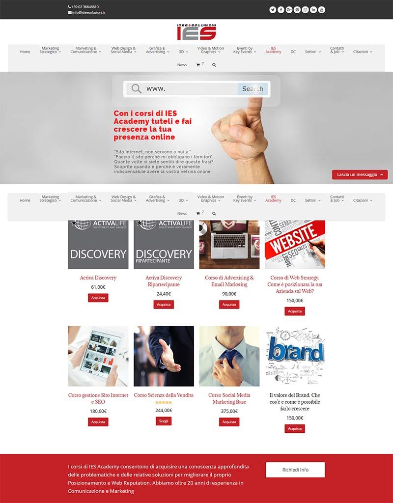 ies-academy-la-sezione-e-commerce-del-sito-di-idee-e-soluzioni