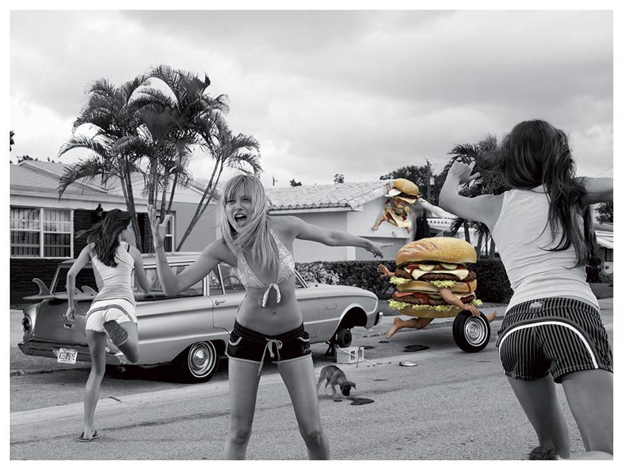 modelli 3d Hamburger per campagna pubblicitaria Sundek 02