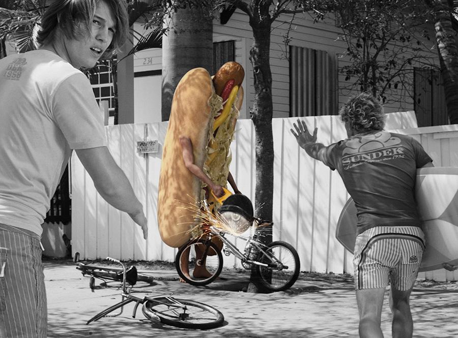 modelli 3d Hot Dog per campagna pubblicitaria Sundek 02