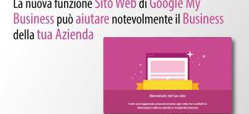 Per La Tua Strategia Di Social Marketing, Utilizza La Funzionalità Sito In Google My Business