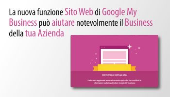 Nuova Funzionalità Sito In Google My Business